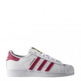 Adidas Superstar  Bambino Bianco/Rosa