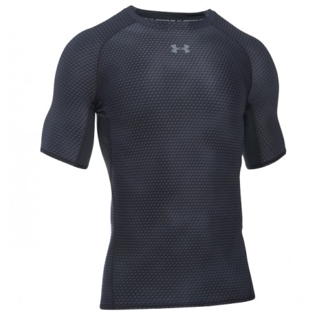 Under Armour T-Shirt Mm Run Hg Comp Printed Black