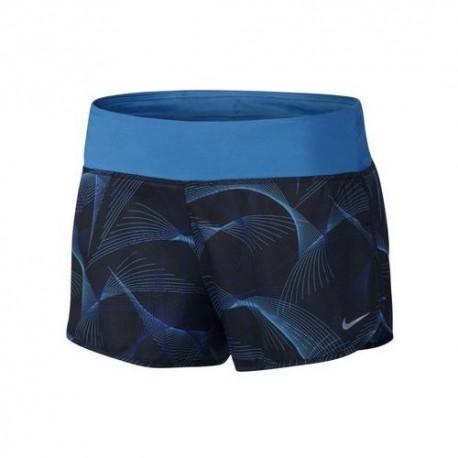 Nike Shortrun Nk Flx 3in Rival Blk/Deep Blu/Silv Donna