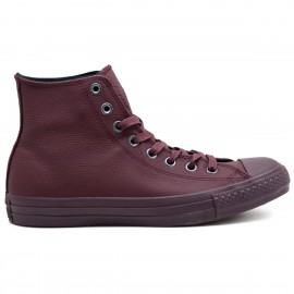 Converse All Star Hi Leather Monochrome Bordeaux Monochrome Unisex