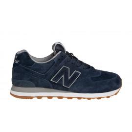 New Balance 574 Suede Blu