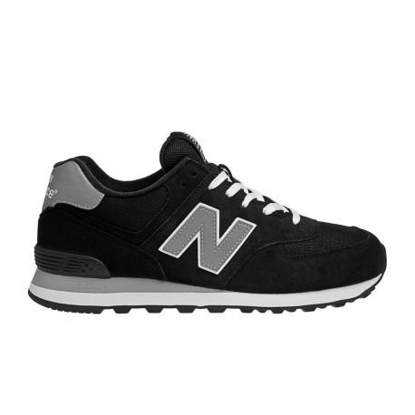 New Balance 574 Suede/Mesh Nero/Grigio