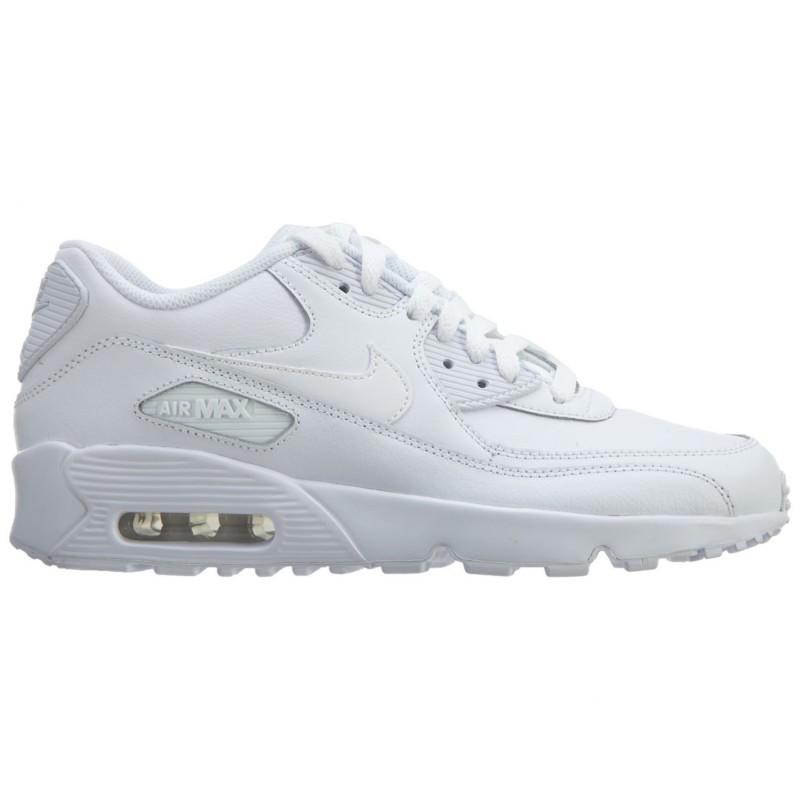 Nike Air Max 90 Lea Gs Bianco/Bianco Bambino