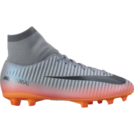 Nike Mercurial Vcty VI Cr7 Df Fg Silver/Nero Junior