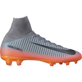 Nike Mercurial Superfly V Cr7 Fg  Silver/Nero Junior