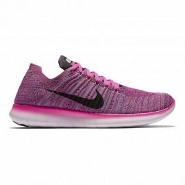 Nike Free Rn Flknt  Fire Pink/Black Donna