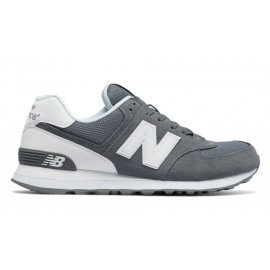 New Balance 574 Suede Mash  Grigio/Bianco