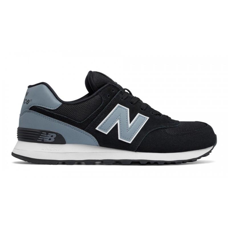 New Balance 574 Suede Mash  Nero/Grigio