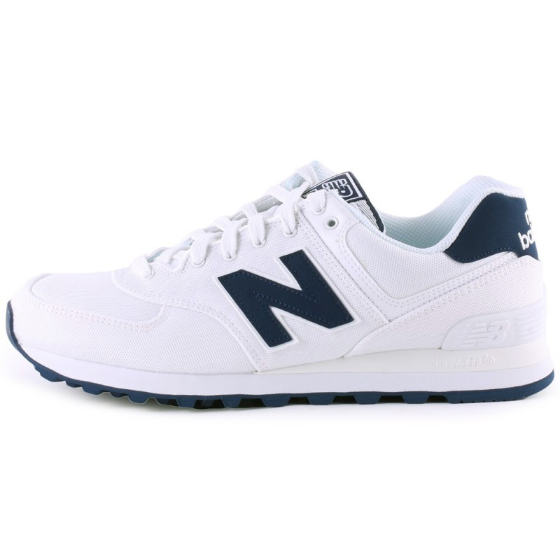New Balance 574 Suede Mash  Bianco/Blu