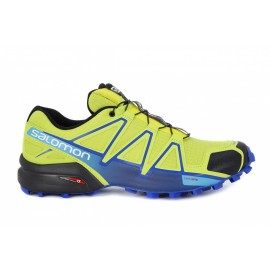 Salomon  Speedcross 4  Lime Green/Nautical Blue