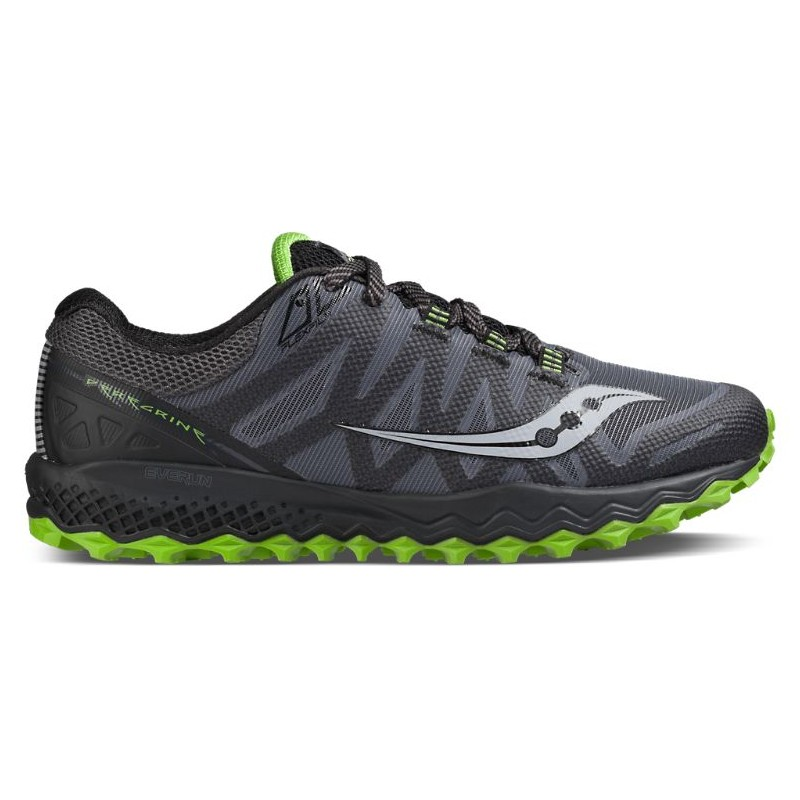 Saucony  Peregrine 7  Grey/Black/Lime