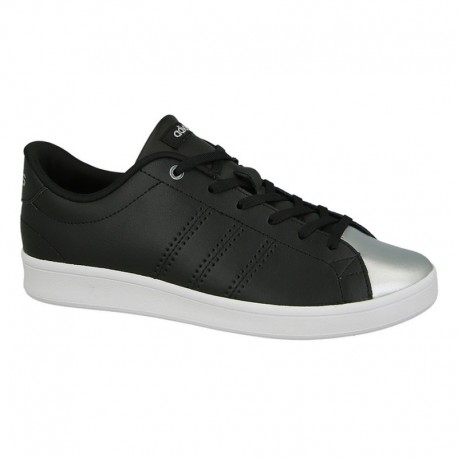 Adidas Advantage Clean Qt  Nero/Argento Donna