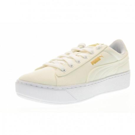 Puma Vikky Platform Canvas  Bianco Donna