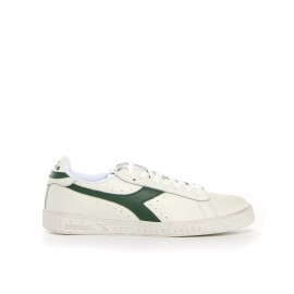Diadora Game Low Waxed Lea  Bianco/Verde