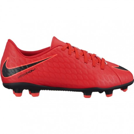 Nike Scarpa Jr Hypervenom Phade III Fg Red/Black