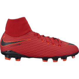 Nike Bambino Hypervenom Phelon 3 Df Fg Red/Black