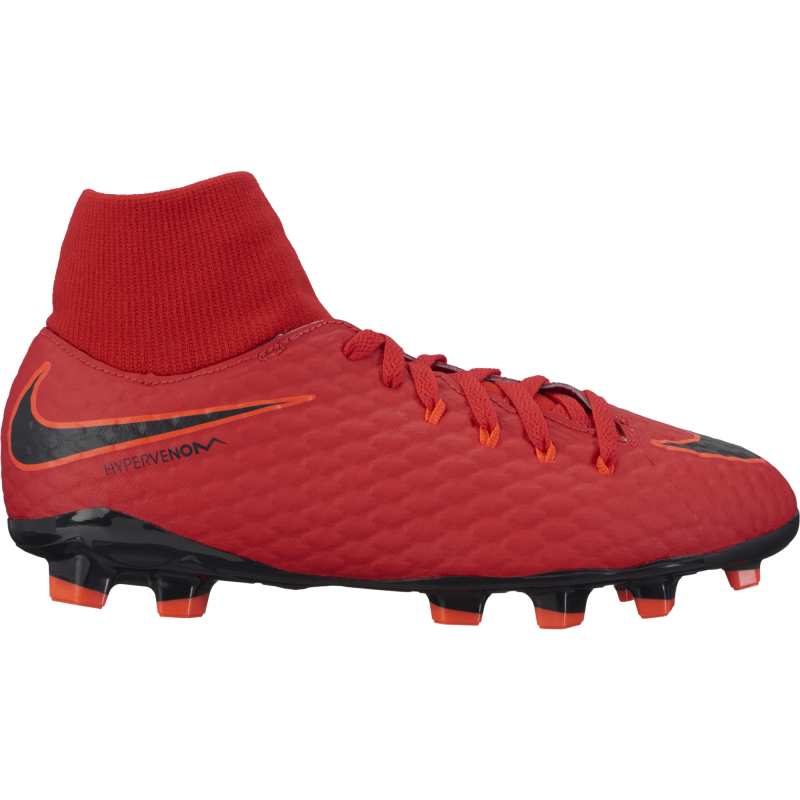Nike Scarpa Jr Hypervenom Phelon 3 Df Fg Red/Black