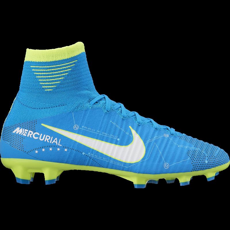 Nike Scarpa Jr Mercurial Superfly V DF Fg Njr Azzurro/Bianco