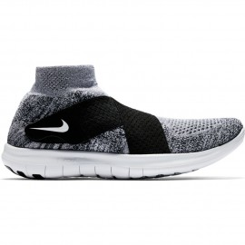 Nike Scarpa Free Rn Motion Flyknit 2 Black/White