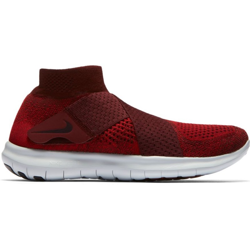 Nike Scarpa Free Rn Motion Flyknit 2 Tough Red/Port Wine