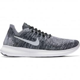 Nike Scarpa Donna Free Rn Flyknit 2 Black/White