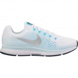 Nike Scarpa Donna Air Zoom Pegasus 34 White/Metallic Silver