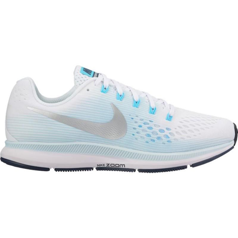 Nike Scarpa Donna Air Zoom Pegasus 34 White/Metallic Simver