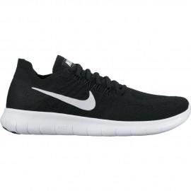 Nike Scarpa Donna Free Rn Flyknit 2017 Black/White