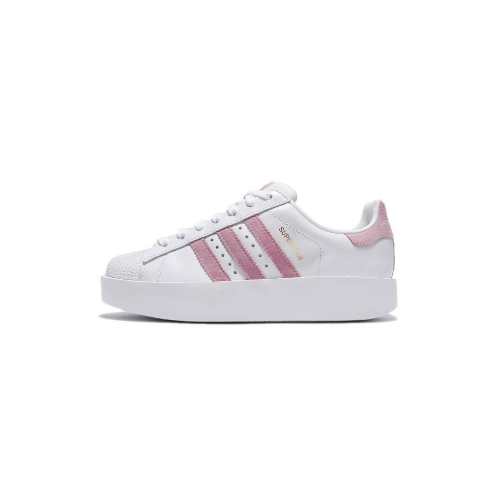 adidas superstar bianco rosa