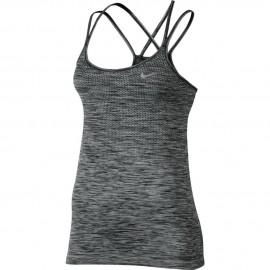Nike Tank Donna  Run Knit    Black/Htr