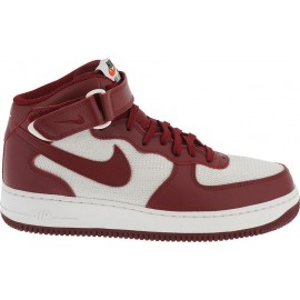 Nike Air Force 1 Mid  Bianco/Team Red