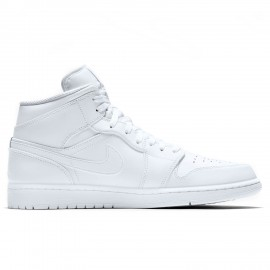 Nike Scarpa Air Jordan 1 Mid White/White