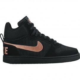 Nike Scarpa Donna Court Borough Mid Prem Black/Bronze