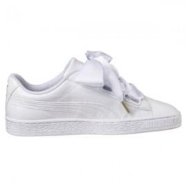 Puma Scarpa Basket  Donna Heart Patent White/White