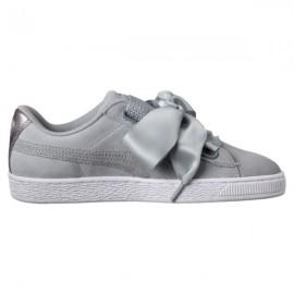 Puma Scarpa Basket  Donna Heart Suede Grey/Grey