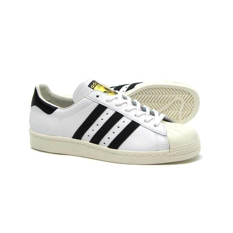 Adidas Scarpa Superstar 80s White/Black