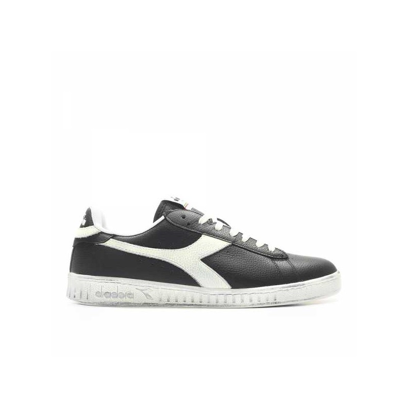 Diadora Scarpa Game Lea Low Waxed Nero/Bianco