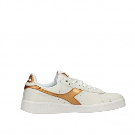 Diadora Scarpa Donna Game Metallic Bianco/Oro