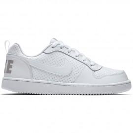 Nike Scarpa Bambino Court Borough Gs Bianco/Bianco