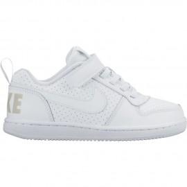 Nike Scarpa Bambino Court Borough Psv Bianco/Bianco