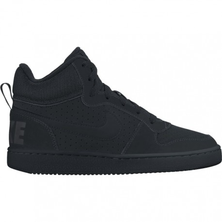 Nike Scarpa Bambino Court Borough Mid Gs Nero/Nero