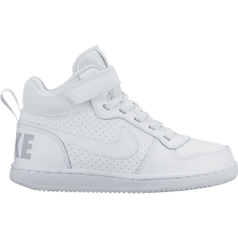 Nike Scarpa Bambino Court Borough Mid Ps Bianco/Bianco