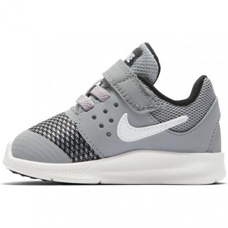Nike Scarpa Bambino Downshifter 7 Td Grigio/Bianco