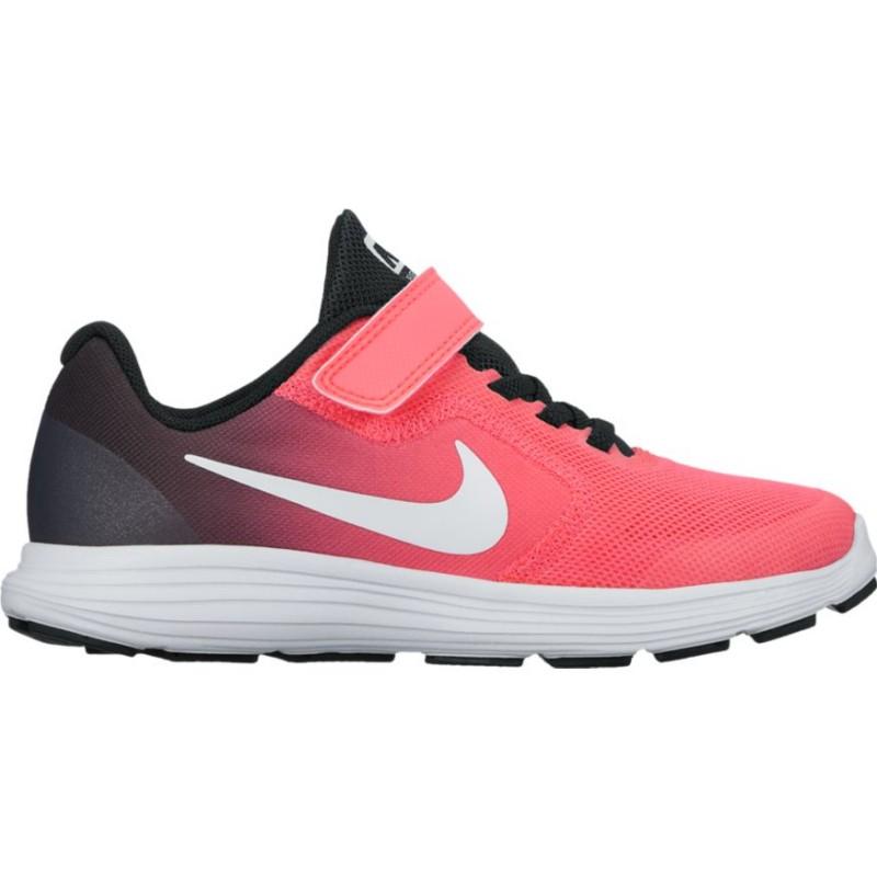 Nike Scarpa Bambino Revolution 3 Ps Nero/Rosa