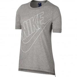 Nike T-Shirt  Donna Logo Grigio