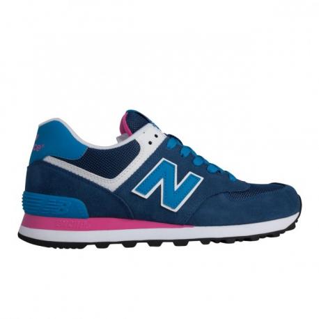 New Balance 574 Bicolor Suede/Mesh Azzurro/Blu Donna