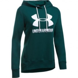 Under Armour Felpa Donna C/Capp Fit Verde