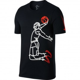 Nike T-Shirt Mm Lbj Dry Famous Black/White