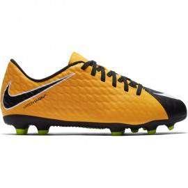 Nike Bambino Hypervenom Phade III Fg Giallo/Nero