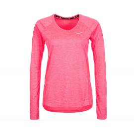 Nike T-Shirt Donna Ml Run Dry Miler Racer Pink